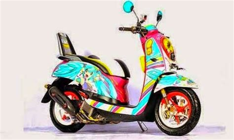 modifications honda scoopy  motorcycle