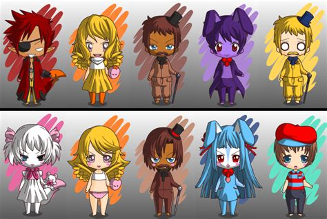 imagenes anime five nights at freddys five nights at freddy s chibi by djalee360360 on deviantart