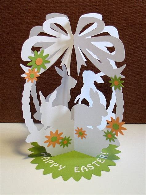3d easter card templates commercial use paper cut template 3d easter basket by
