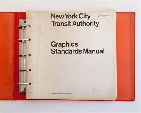 design guidelines new york nyc transit authority graphics standards manual by