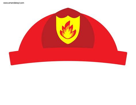 fireman hat template instant fireman printable photo booth prop set
