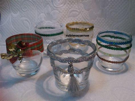 decoracion de vasos de vidrio para navidad diy como decorar vasos navidad pinterest jarras