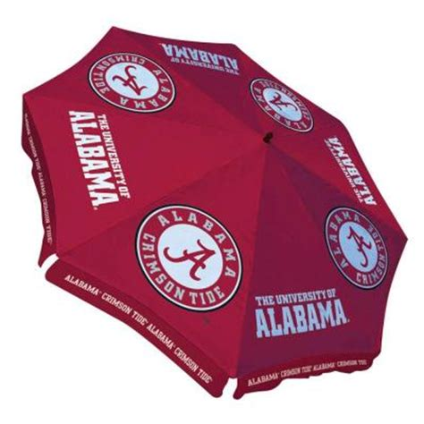 alabama patio umbrella team sports america of alabama 9 ft patio umbrella in crimson 0117605 the home depot