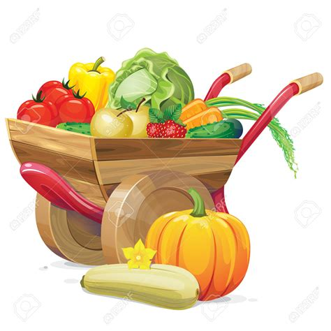 vegetable clip vegetables clipart fall vegetable pencil and in color