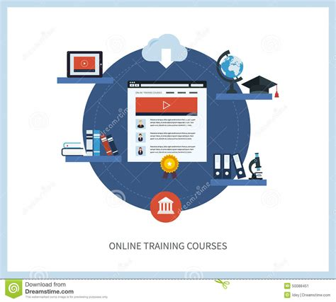 design online free courses online education and courses stock vector image 50088451