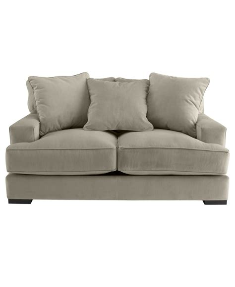 macy s clare sofa stylish teddy fabric sofa created for macys furniture
