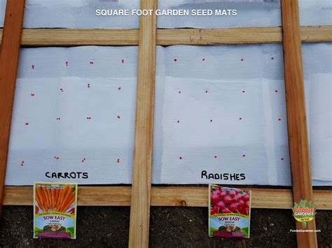 seeds for vegetable garden diy vegetable seed mats for square foot gardens the