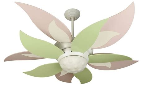 pink and green bloom ceiling fan