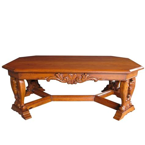 Baroque Coffee Table Handsome And Boldly Carved Baroque Style Cherrywood Coffee Cocktail Table For Sale At 1stdibs