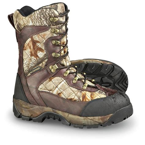 guide gear mens sports hunting boots 1200 gram men s guide gear 174 waterproof 1 200 gram thinsulate ultra