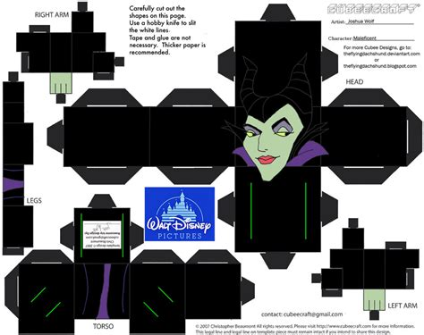 Design Papercraft - dis16 maleficent cubee by theflyingdachshund on deviantart