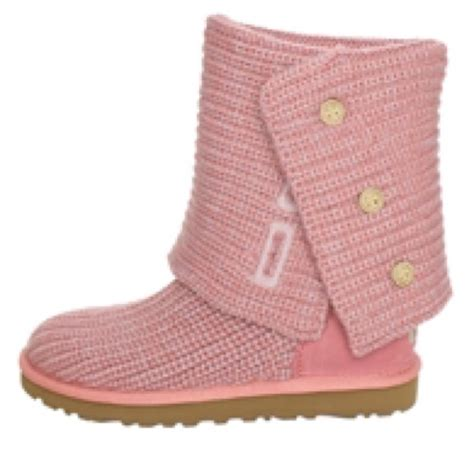 pink knitted boots 70 ugg shoes light pink knit uggs size 6 from