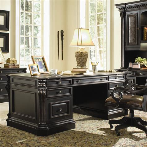 home office desks toronto hooker furniture telluride executive double pedestal desk