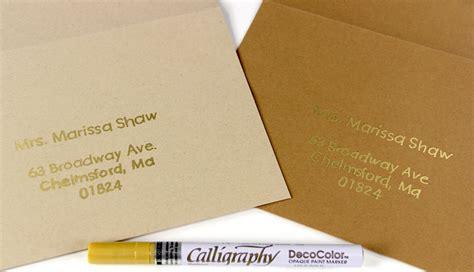 what is the best pen for addressing wedding invitations 3 pens to write on kraft envelopes