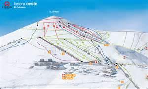 el colorado trail map el colorado farellones west ski trail map el cono