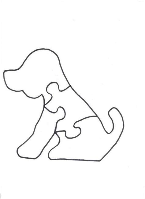 printable dog puzzle wood puzzles dog puzzle for wood