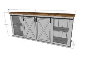 barn door tv stand plans white grandy sliding door console diy projects