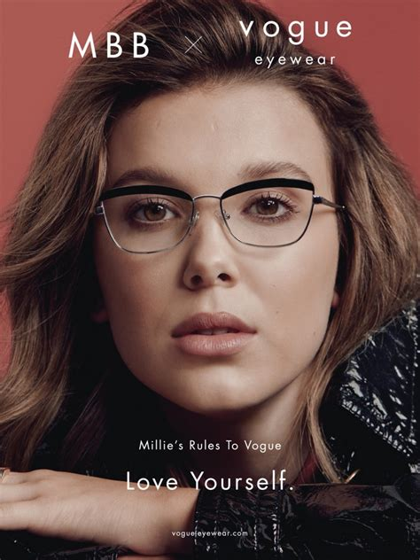 millie bobby brown vogue eyewear capsule collection