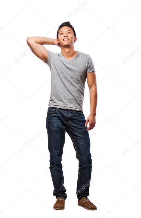 imagenes body html full body of chinese man stock photo