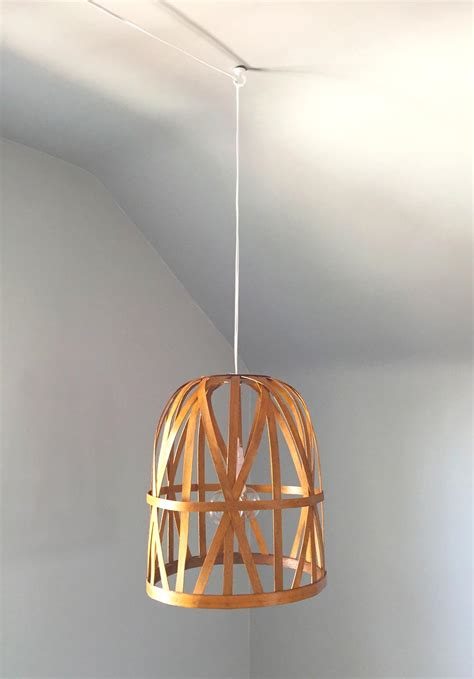 Basket Pendant Light Diy Basket Pendant Light And Then We Tried