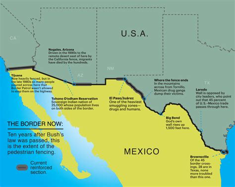 us mexico border wall map map of mexican border fence pictures to pin on
