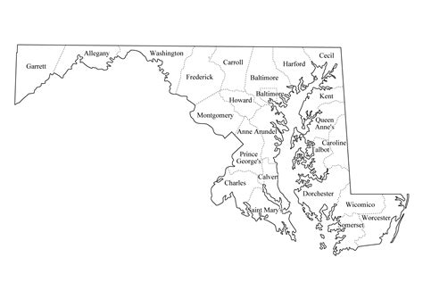 maryland map blank geography maryland outline maps