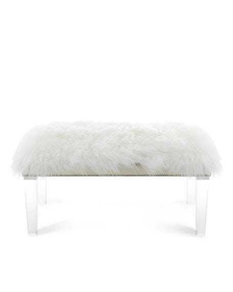 sheepskin bench massoud alala 60 quot l sheepskin bench