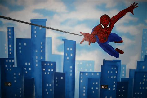 modern spiderman wall decor home decor and design room