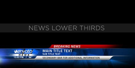 Broadcast News Lower Thirds by MotionRevolver   VideoHive