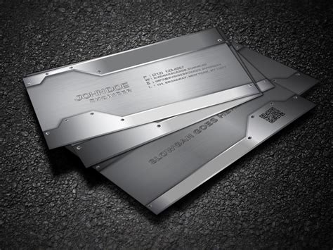 Free Metal Business Card Template for Photoshop : Business