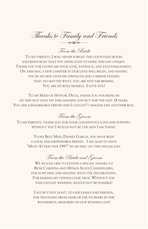 Wedding Ceremony Thank You Wording by Orchid Wedding Program Exles Wedding Program Wording