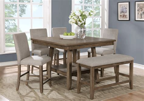 Height For Dining Room Bench Manning Counter Height Dining Bench Overstock
