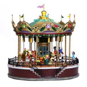 lemax village collection sunshine carousel notcutts