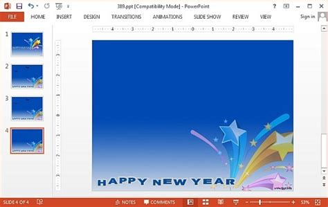 new powerpoint templates free free new year powerpoint templates