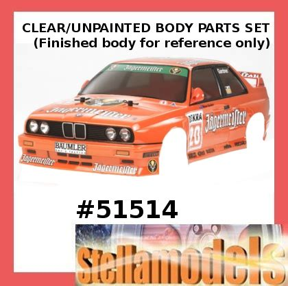 Tamiya 15482 Veldaga Clear Set 51514 bmw m3 evo jagermeister parts set stellamodels