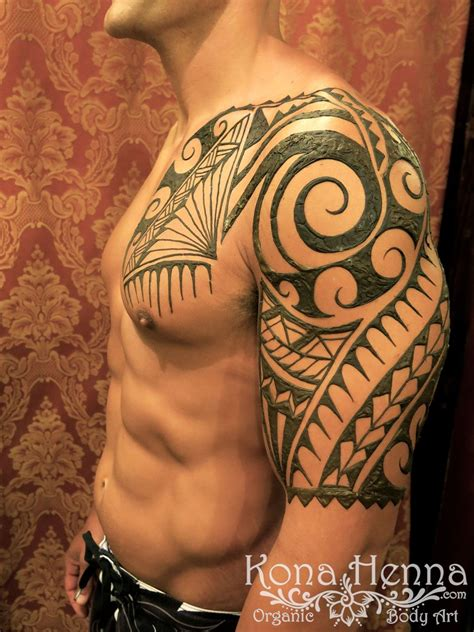 chest and arm tattoo designs kona henna studio chests gallery henna