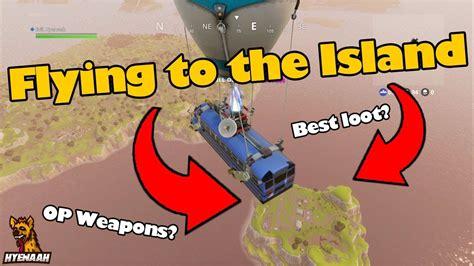 fortnite island flying to the island in fortnite battle royale