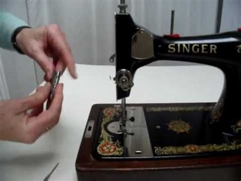 how to adjust the tension on a vintage long bobbin sewing