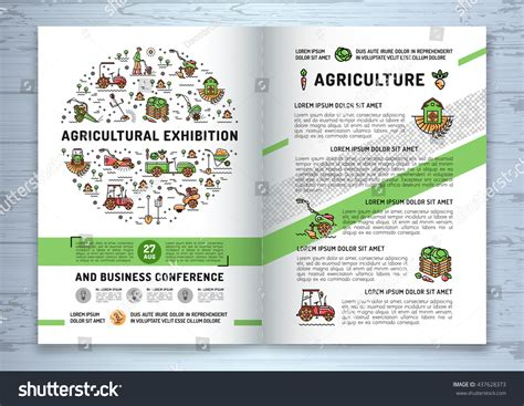 agriculture business card templates free agricultural exhibition business brochure design template