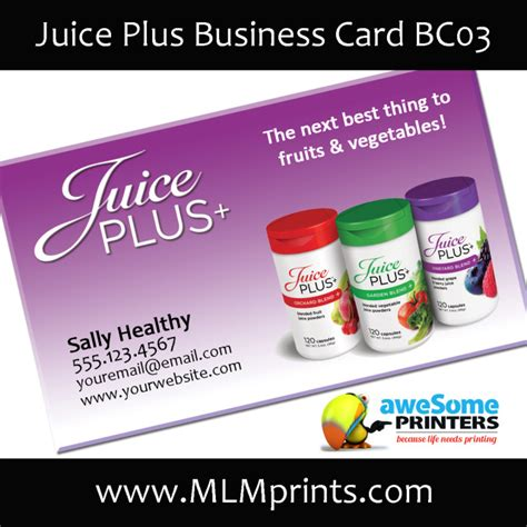kangen business card templates juice plus marketing materials