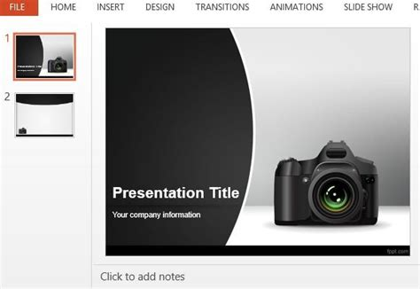 camera powerpoint template free best photography