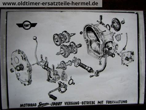Awo 425 Explosionszeichnung by Getriebe Simson 425 Sport Explosionszeichnung 8832