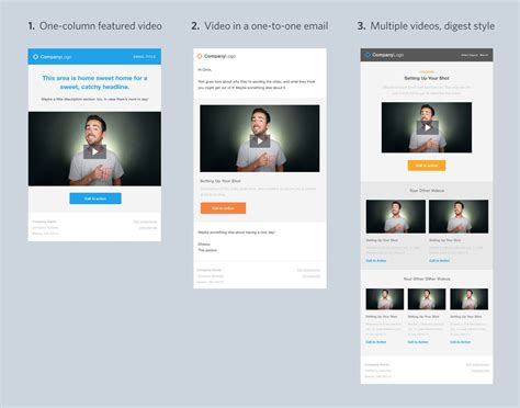 design free email template video email templates guide to using video in email