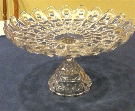 antique eapg thumbprint pattern glass cake stand cake stand plate pinterest cake stands