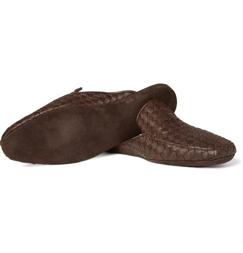 mens designer slippers bottega veneta intrecciato leather slippers cool s shoes