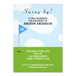free printable golf stationery golf invitations announcements zazzle