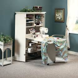 Craft Armoire Furniture Sewing Machine Table Cabinet Craft Armoire Dresser Storage