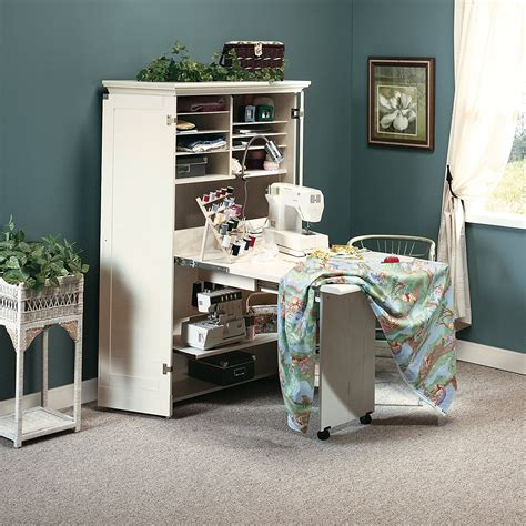 Craft Storage Armoire by Sewing Machine Table Cabinet Craft Armoire Dresser Storage