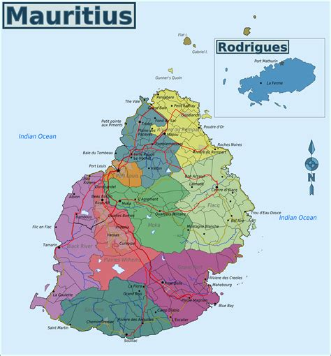 mauritius on the world map map of mauritius overview map regions worldofmaps net
