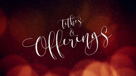 warm christmas glow tithes offerings centerline  media